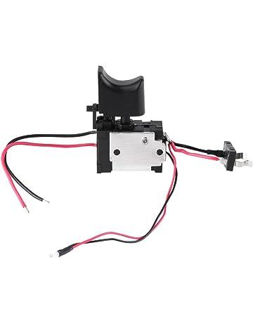 Akozon Interruptor de taladro eléctrico, 7.2V-24V Batería de litio Taladro inalámbrico Control
