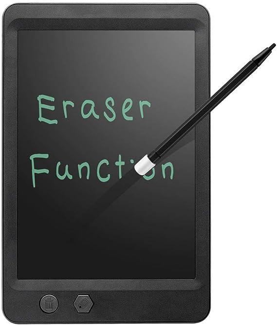 LCDライティングタブレット8.5インチデジタルeWriter電子グラフィックタブレット描画タブレットロックキー消去可能なポータブル落書きボード子供たちのおもちゃ誕生日ギフト学習ツール ペン&タッチ マンガ・イラスト制作用モデル (Color : Black)
