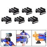 Fantaseal® Nerf to Picatinny Rail Adapter Mount Aluminum Alloy Picatinny Rail Adapter for Nerf Gun 18mm-21mm Hardpoint MOD Kit Nerf Guns Attachment Nerf Gun Accessories Nerf Gun Mount Air Soft Gun Mount for Nerf Blaster Standard Military Tactical Gear Scope Led Flash Light Night Vision Device etc (6 pcs)