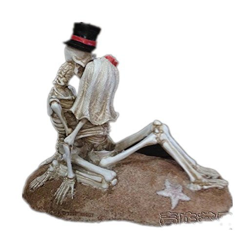 Love Never Dies Wedding Cake Topper Weddingstar Bridal Couple Figurine Home decoration (Cuddle model)