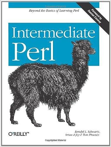 Book Intermediate Perl