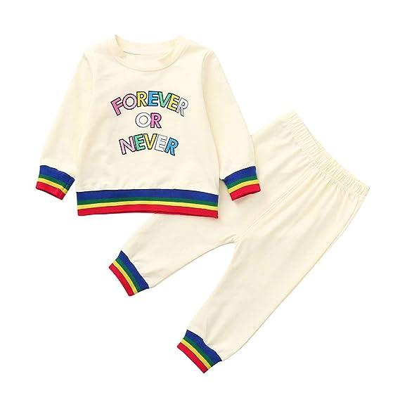 Conjuntos Niña Invierno, ❤ Zolimx Recién Nacidos Niños Niñas Chicos de Impresión Tops del Suéter + Pantalones para Newborn Baby Clothes: Amazon.es: Ropa ...