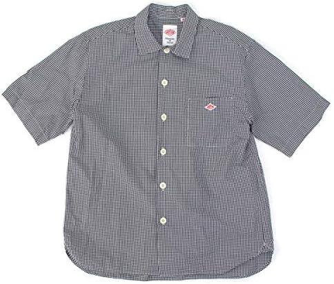 メンズ コットンポプリン 半袖ワイドシャツ[JD-3609MTP]