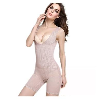 6a2dc4dd40 Jelinda Women s Lace Shapewear Adjustable Open Bust High Waisted Bodysuit  Body Slimmer
