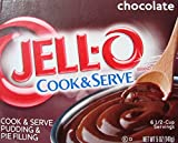 Jell-O Chocolate Cook and Serve Pudding & Pie Filling, 5 oz (4-Packs)