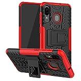 Galaxy A20/Galaxy A30/Galaxy A50 Case, SKTGSLMY [Shockproof] Tough Rugged Dual Layer Protective Case Hybrid Kickstand Cover for Samsung Galaxy A20/A30/A50 (Red)