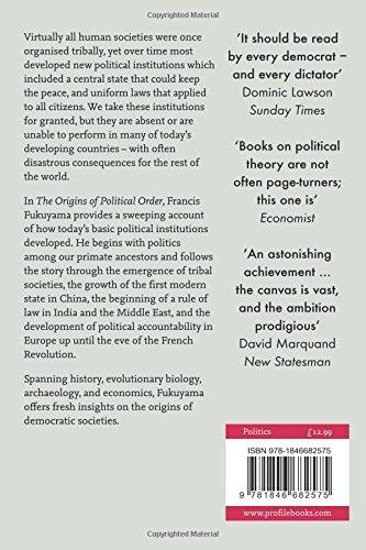 The Origins of Political Order: From Prehuman Times to the French Revolution: Amazon.es: Francis Fukuyama: Libros en idiomas extranjeros