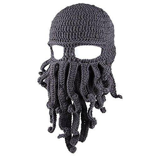 NYKKOLA Unisex Barbarian Knit Beanie Octopus (Friend Knit Hat)