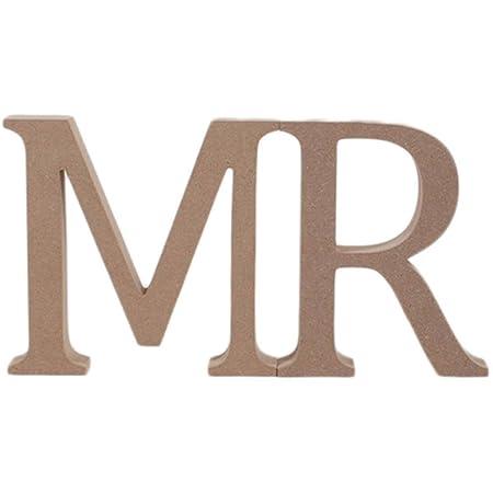 Mr Mdf Wooden Letters Bundle 13 Cm Amazoncouk Kitchen Home