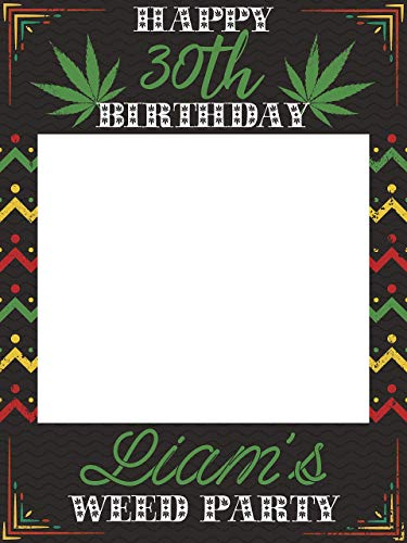 Weed Birthday Reggae Party Photobooth, Rasta Theme Party Decorations, Rasta Decor, Reggae Theme Party Decorations, Birthday Party Ideas, Photo Booth Props, Handmade Party Supplies Photo 24x36, 48x36]()