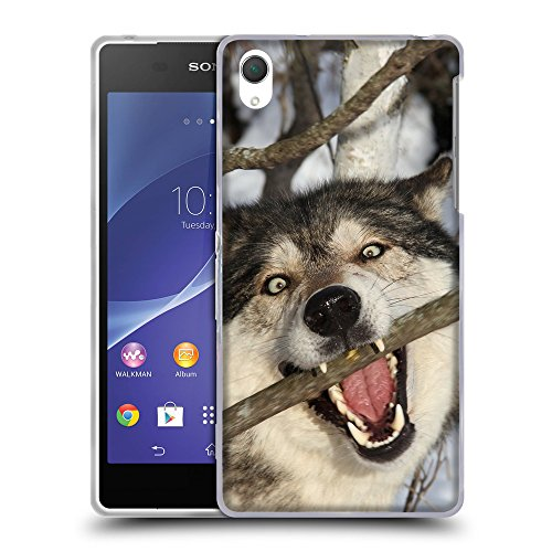 Hello-Mobile Soft Flexible TPU Slim Fit Cover Case // V00004336 Crazy dog bites branch of tree // Sony Xperia Z2 L50W - Branch Bites