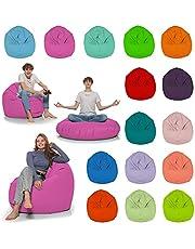 HomeIdeal - Zitzak 2-in-1 functies vloerkussen voor volwassenen en kinderen - gaming of ontspannen - binnen en buiten omdat het waterdicht is - met EPS-parels, kleur: roze, maat: 130 cm diameter