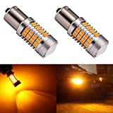 1156a led bulb amber - ENDPAGE 1156 1141 1003 7506 BA15S LED Bulb 2-pack, Amber Yellow, Extremely Bright, 54-SMD with Projector Lens, 10-30V, Work as Turn Signal Blinker Lights