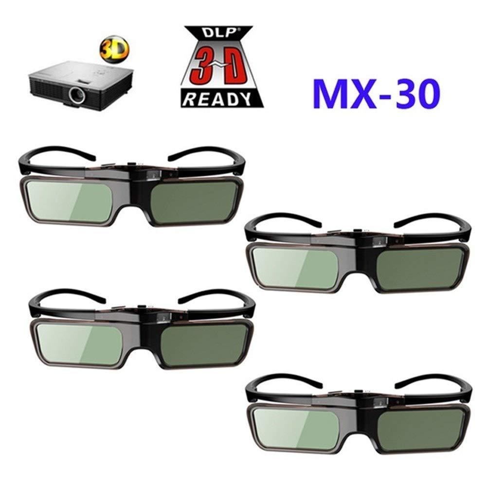You will think of me 4pcs Gafas 3D DLP con Obturador Activo para ...