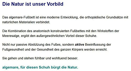 Algemare Damen Pantolette Frozen Nappino Absatzschuh mit Algen-Kork Wechselfußbett Made in Germany 1239_2571, Größe:35