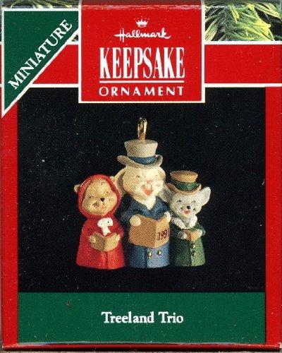 Hallmark Keepsake Ornament - Treeland Trio - 1991 Miniature QXM5899 by Hallmark
