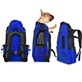 Cheap K9 Sport Sack AIR | Pet Carrier Backpack for Small and Medium Dogs | Front Facing Adjustable Pack | Veterinarian Approved Safe Bag for Travel to Carry Canine (Medium, Cobalt Blue)
