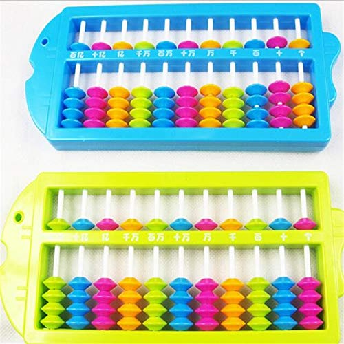 (| Math Toys | 1 piece Chinese Traditional 11 Rods Children Soroban Beads Column School Learning Aid Tool Math Business Educational Toys by GonPi)