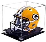 silver football helmet - Deluxe Clear Acrylic Football Helmet Display Case with Silver Risers (A002-SR)