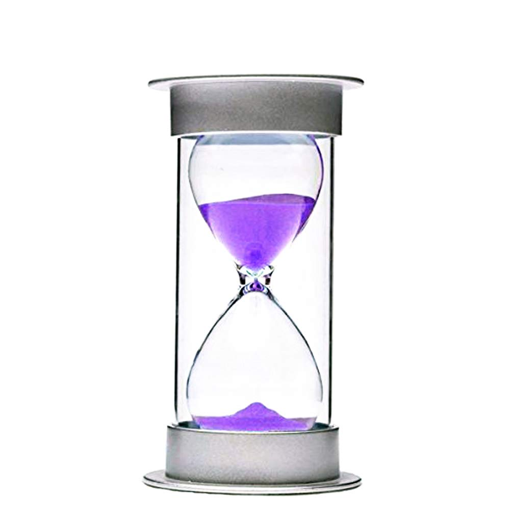Bloss Minute Sand Timer Security Fashion Hourglass 15 Minutes Sand Clock for Children, Decoration, Souvenir, Games, Christmas Birthday Gift - Purple