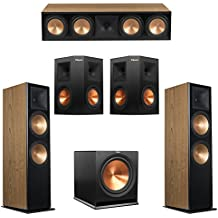 Klipsch 5.1 Cherry System with 2 RF-7 III Floorstanding Speakers, 1 RC-64 III Center Speaker, 2 Klipsch RP-250S Surround Speakers, 1 Klipsch R-115SW Subwoofer