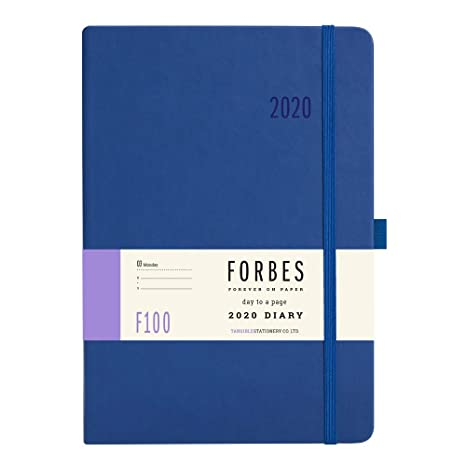 Forbes Classic 2020 - Agenda Diaria (tamaño A5, Tacto Suave), Color Rojo, Blue with Personalisation, A5