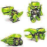 Master- Juguete educativo solar, arma hasta 4 figuras móviles diferentes (T-rex, escarabajo, robot y excavadora) de fácil armado