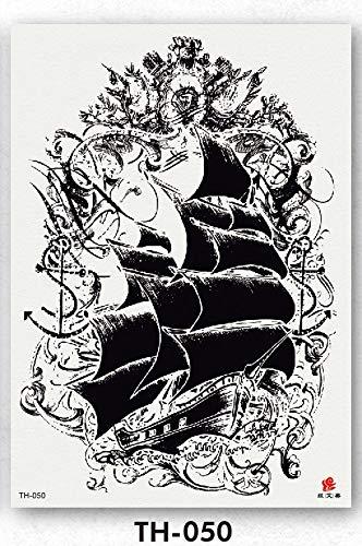 Zhuhuimin 3 unids Tatuaje de los Hombres del Muchacho Negro ...