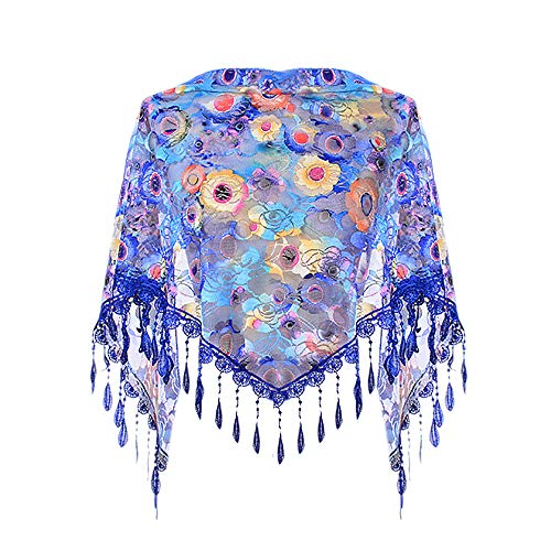 ❤️ QIQIU Tassel Lace Scarves, Womens Warm Printed Wraps Scarf Fashion Sexy Shawl