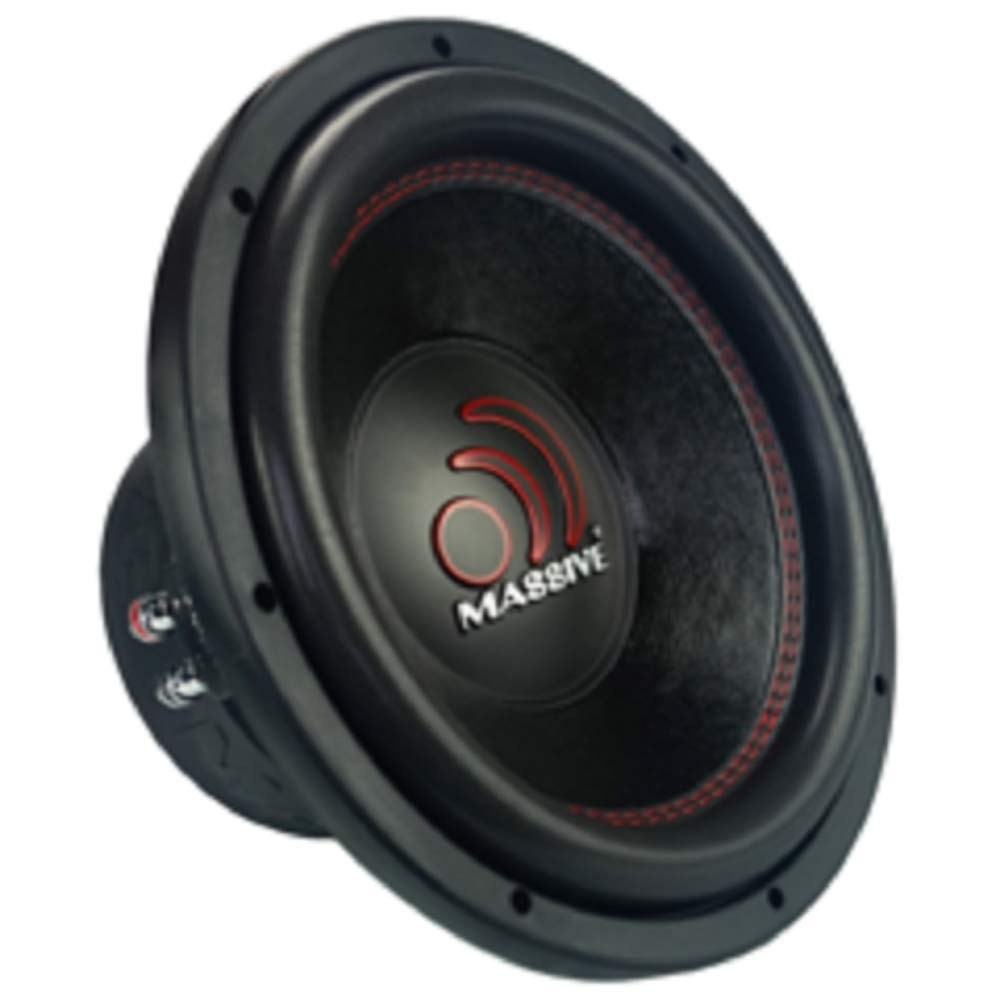 Massive Audio GTX 122 1400 Watts 12 Dual 2 Ohm Car Audio Subwoofer New