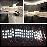 Keyola Full set 10ft 60leds white Under Cabinet Lights Closet Kitchen Counter LED light with Brightness Dimmer (White)