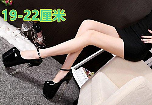 XiaoGao model damen - t - damen model - Sandale, 22 cm hohen absätzen schwarz cd52ee