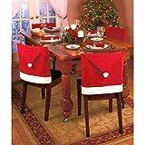 Copri Sedie Cappello di Babbo Natale Pacco da 6 Cover Decorazione Natalizia Festa