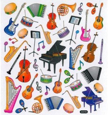 REGALO - PEGATINAS INSTRUMENTOS MUSICALES ...