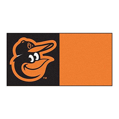 MLB Baltimore Orioles Team Carpet Tile Flooring Squares, 20-PC ()