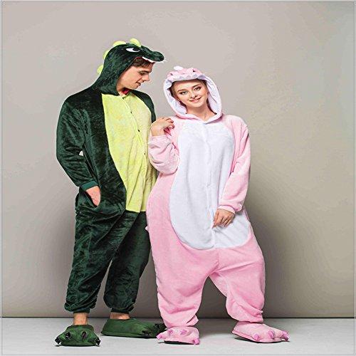 Kigurumi costume da unisex Green o Cosplay Tonwhar Pigiama Dinosaur wqxPCXSWBn