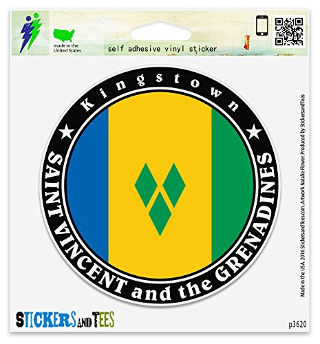Grenadines Mug (Saint Vincent and the Grenadines Vinyl Car Bumper Window Sticker 2