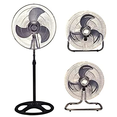 Industrial Fan 18  Floor Stand Mount Shop Commercial High Velocity Oscillating - 2 Year Warranty