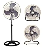 Unique Imports Industrial Fan 18'' Floor Stand Mount Shop Commercial High Velocity Oscillating - 2 Year Warranty