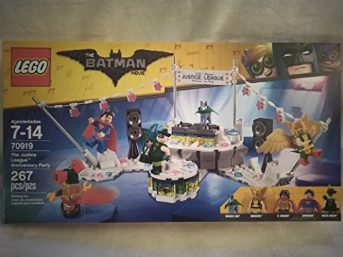 Best buy Lego The Batman Movie Justice League Anniversary Party With Wonder Dog, Hawkgirl, Dorado, Superman,