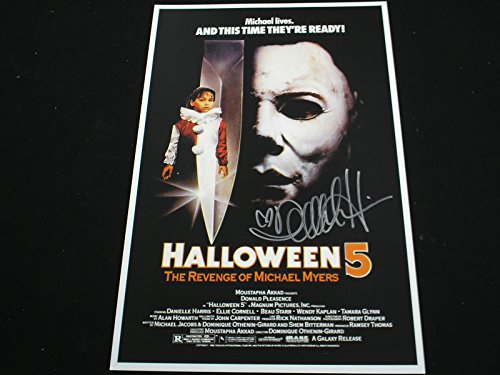 DANIELLE HARRIS Signed 11x17 HALLOWEEN 5 Poster Jamie