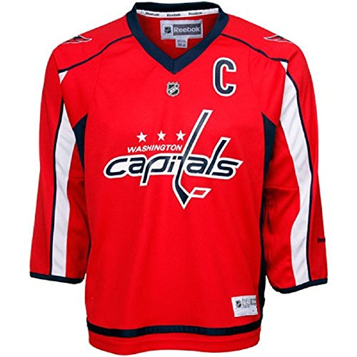 Reebok Alexander Ovechkin Washington Capitals #8 NHL Youth Captain Jersey (L/XL)