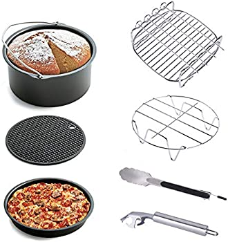 7-Pieces Kinden Air Fryer Accessories for Gowise Phillips and Cozyna