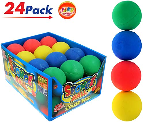 JA-RU Color Hi Bounce Sport Balls but not so Pinky Ball (Pack of 24 with Display Box) and 1 Exclusive Collectable Bouncy Ball 2.5 Inches Rubber Big & Bouncy Massage - 24 Ball Box
