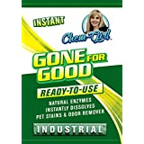Chem-Girl GONE FOR GOOD - Best Enzymatic Odor & Stain Remover, Eliminate Strong Dog & Cat Pee Smell, Cleans Carpets, Rugs, Dog Beds, Baseboards & Floors, Enzyme Neutralizer Spray (Quart) 32 oz