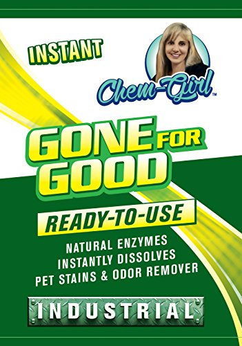 GONE FOR GOOD - Best Enzymatic Odor & Stain Remover, Eliminate Strong Dog & Cat Pee Smell, Cleans Carpets, Rugs, Dog Beds, Baseboards & Floors, Enzyme Neutralizer Spray (Quart) 32 oz (Spray Quart Use)