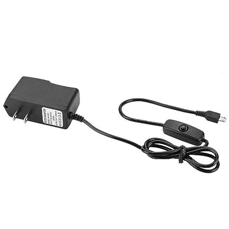Micro alimentación cargador adaptador AC, 5 V 2.5 A Cargador ...