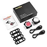Ascher USB Rechargeable Bike Light Set,Super Bright Front Headlight and Rear LED Bicycle Light,650mah Lithium Battery,4 Light Mode Options