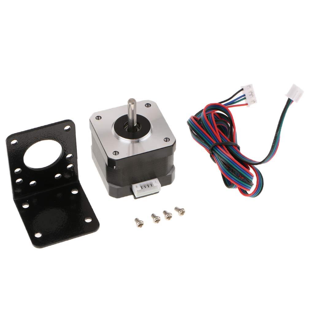 F Fityle 42 Motor paso a paso con soporte 1.68A 0.3Nm/2.8V ...