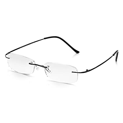 7cd6082c5b Read Optics Gafas de lectura sin montura: Pantalla de computadora  Antideslumbrante Óptica Óptica Rectángulo Lentes